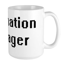 Information Manager Retro Digital Job Design Mugs