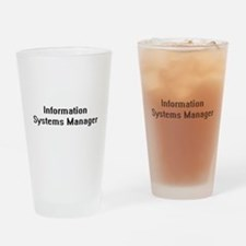 Information Systems Manager Retro D Drinking Glass