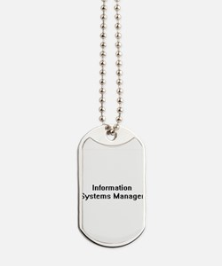 Information Systems Manager Retro Digital Dog Tags