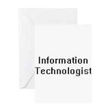 Information Technologist Retro Digi Greeting Cards