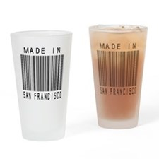 San Francisco Barcode Drinking Glass