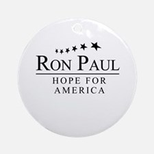 Ron Paul: Hope for America Ornament (Round)