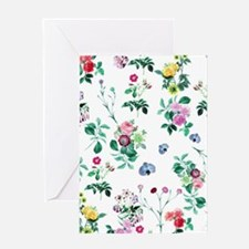 Delicate Floral Pattern Greeting Cards