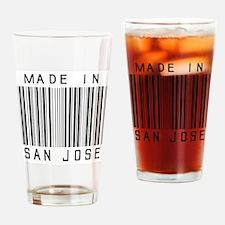 San Jose Barcode Drinking Glass