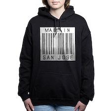 San Jose Barcode Women's Hooded Sweatshirt