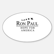 Ron Paul: Hope for America Oval Decal