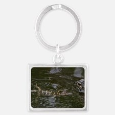 Baby Goes for a Swim Landscape Keychain