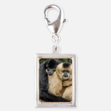 Cute Cute couples Silver Portrait Charm
