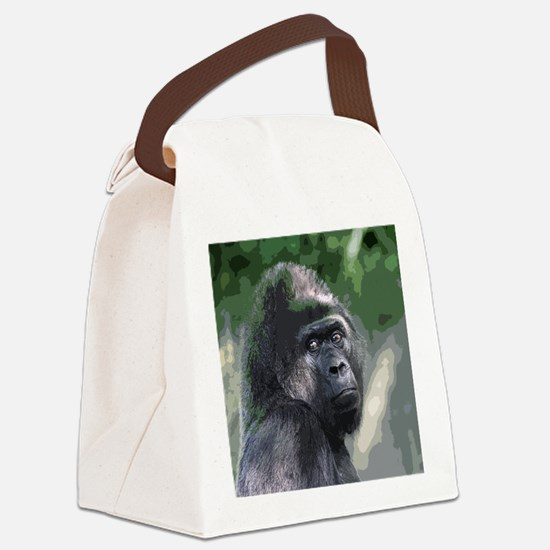 Cute Gorilla Canvas Lunch Bag