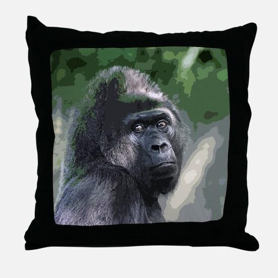 Unique Gorillas Throw Pillow