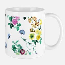 Delicate Floral Pattern Mugs