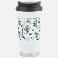 Delicate Floral Pattern Stainless Steel Travel Mug
