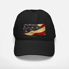 Distressed Vintage American Flag Baseball Cap