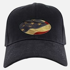 Distressed Vintage American Flag Baseball Hat