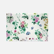Delicate Floral Pattern Magnets