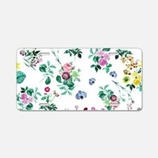 Delicate Floral Pattern Aluminum License Plate