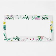 Delicate Floral Pattern License Plate Holder