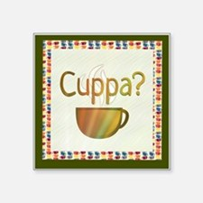 Cuppa? Cafe Art Sticker