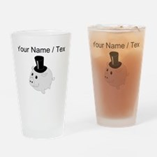 Piggy Bank (Custom) Drinking Glass