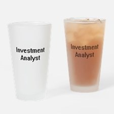 Investment Analyst Retro Digital Jo Drinking Glass