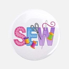 "LARGE SEW MONTAGE 3.5"" Button"