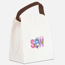 LARGE SEW MONTAGE Canvas Lunch Bag