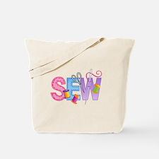 LARGE SEW MONTAGE Tote Bag
