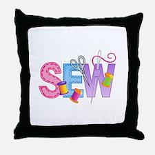 LARGE SEW MONTAGE Throw Pillow