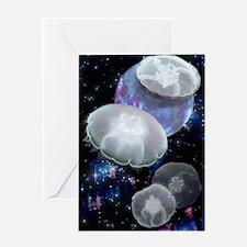 Moon Jellies 2 Greeting Card