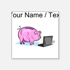 Piggy Bank And Laptop (Custom) Sticker