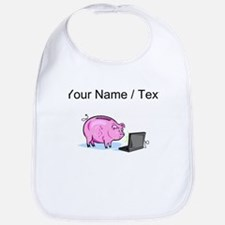 Piggy Bank And Laptop (Custom) Bib