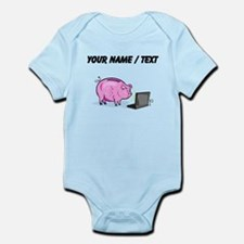 Piggy Bank And Laptop (Custom) Body Suit