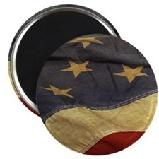 Distressed Vintage American Flag Magnets