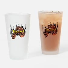 TIGER TEARING THROUGH Drinking Glass