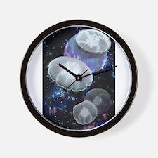 Moon Jellies 2 Wall Clock
