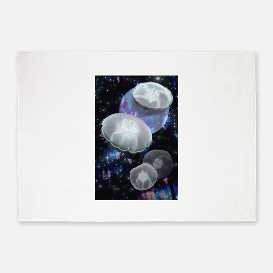 Moon Jellies 2 5'x7'Area Rug