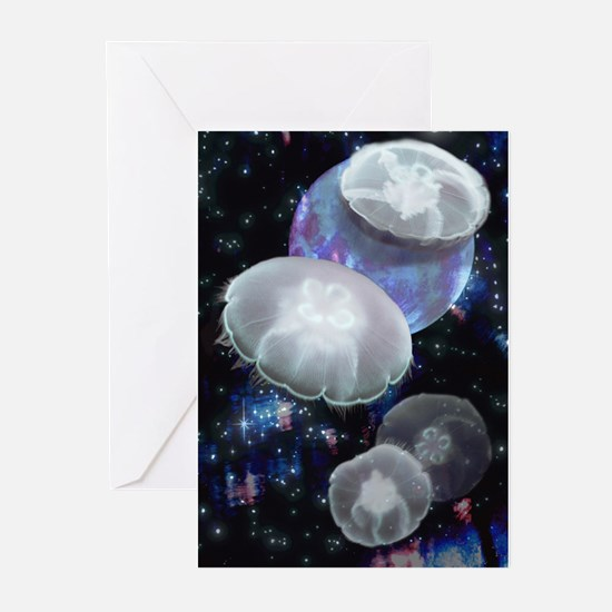 Moon Jellies 2 Greeting Cards