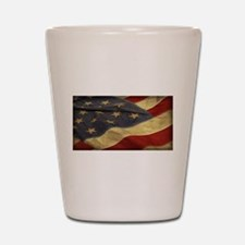 Distressed Vintage American Flag Shot Glass