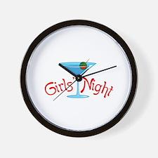 GIRLS NIGHT FULL FRONT Wall Clock