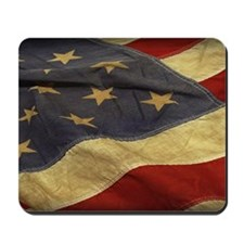 Distressed Vintage American Flag Mousepad
