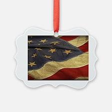 Distressed Vintage American Flag Ornament