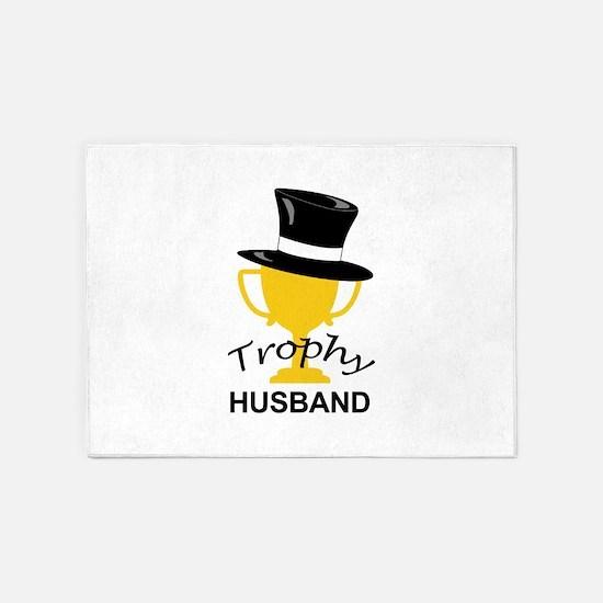 TROPHY HUSBAND 5'x7'Area Rug