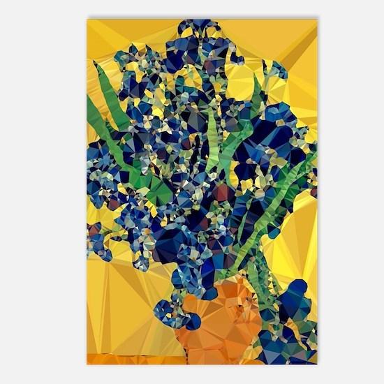 Van Gogh Irises Yellow Postcards (package Of 8)