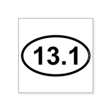 "Cute Running Square Sticker 3"" x 3"""