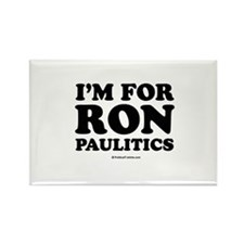 I'm for Ron Paulitics Rectangle Magnet