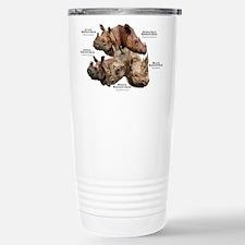 Rhinos of the World Stainless Steel Travel Mug