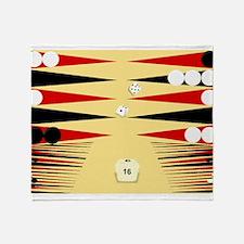 Unique Backgammon Throw Blanket