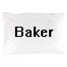 Baker Retro Digital Job Design Pillow Case