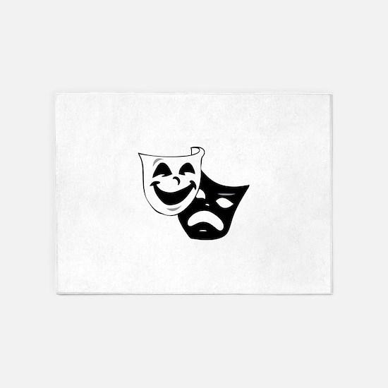 Tragedy Comedy Masks 5'x7'Area Rug
