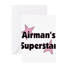 Cute Airman's girlfriend Greeting Card